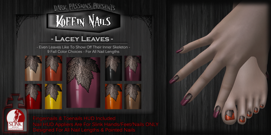 Koffin Nails - Slink AD - Lacey Leaves